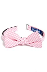 Men's The Tie Bar Gingham Cotton Bow Tie Pink Online Only