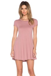 Bobi Light Weight Jersey Tee Dress Blush