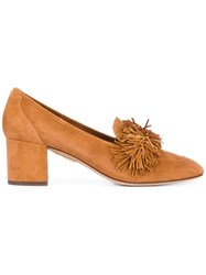 Aquazzura Fringed Detailing Pumps Nude Neutrals