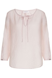 Velvet Cotton Silk Tunic Rose