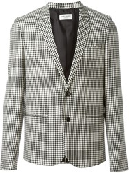 Saint Laurent Gingham Blazer Black