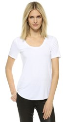 Three Dots Evelyn Tee Tunic White