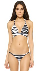 Vix Swimwear Anita Crossed Bikini Top Black White