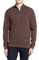 Tommy Bahama Men's Flip Side Reversible Quarter Zip Twill Pullover Old Oak Heather