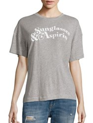 Wildfox Couture Sunglasses And Asprin T Shirt Heather