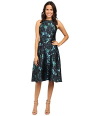 Eva By Eva Franco Jack Dress Navy Turquoise Women's Dress Blue
