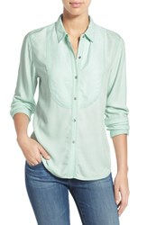 Women's Two By Vince Camuto Bib Detail Utility Shirt