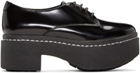 Opening Ceremony Black Patent Platform Riyal Oxfords