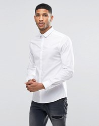 Sik Silk Siksilk Stretch Shirt In Slim Fit White