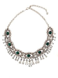 Shourouk Crystal Embellished Necklace Green
