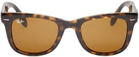 Ray Ban Dark Brown Folding Wayfarer Sunglasses