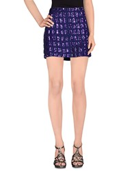 Antik Batik Skirts Mini Skirts Women Dark Purple