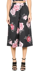 Cameo Lady Killer Culottes Black Bouquet