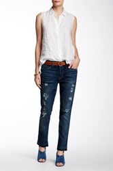 Level 99 Morgan Slouchy Straight Leg Jean Petite Blue
