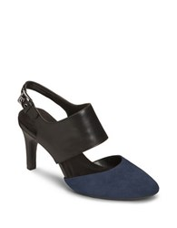 Aerosoles Exit Lane Buckled Pumps Dark Blue