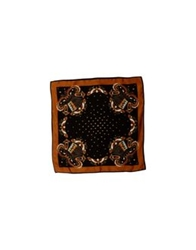 Tua By Braccialini Square Scarves Dark Brown