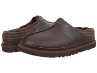 Ugg Neuman China Tea Leather Men's Clog Shoes Brown