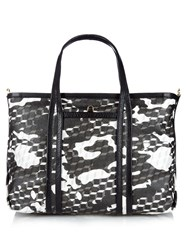 Pierre Hardy Cube Print Camouflage Coated Canvas Tote