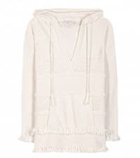 Tory Burch Cotton Hoodie White