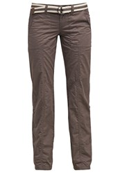 Esprit Edc By Trousers Brown Grey Anthracite