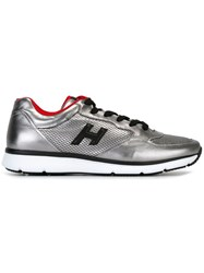 Hogan Perforated Panel Lace Up Sneakers Grey