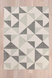 Rotating Triangle 5X7 Rug In Grey Urban Outfitters