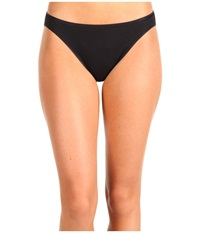 Hanro Cotton Seamless Hi Cut Brief 1624 Black Women's Underwear