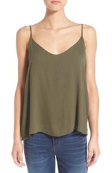 Women's Painted Threads Gauze Camisole Olive