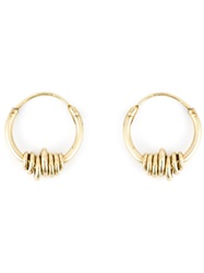 Wouters And Hendrix Wrapped Wire Hoop Earrings Metallic