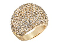 Guess Pave Dome Ring Gold Crystal Ring