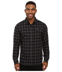 Volcom Fulton Long Sleeve Flannel Stealth Men's Clothing Gray