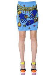 Moschino Cotton Jacquard Mini Skirt
