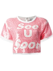 Aviu Sequinned See You Soon Blouse Pink And Purple