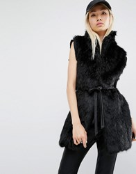 Unreal Fur Fusion Faux Vest Black