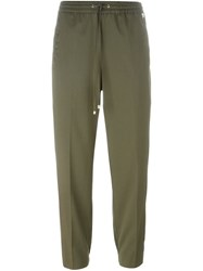 Twin Set Gathered Ankle Trousers Green