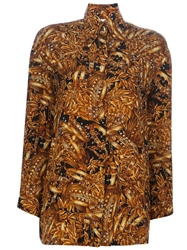 Gianfranco Ferre Vintage Print Shirt Yellow And Orange