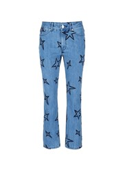 Etre Cecile Star Embroidered Slouch Jeans Blue