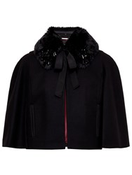 Ted Baker Lex Faux Fur Collar Jacket Black