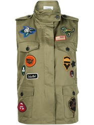 Coach Sleeveless Military Jacket Green