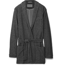 Oliver Spencer Loungewear Fleece Robe Gray