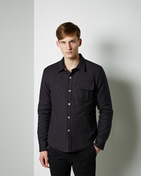 Band Of Outsiders Quilted Shirt Jacket Black Multi