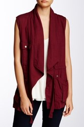 Sanctuary Traveller Linen Blend Vest Brown