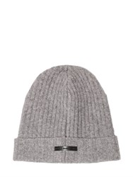 Diesel Black Gold Wool Blend Rib Knit Beanie Hat