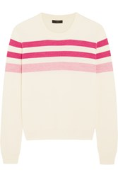 J.Crew Striped Merino Wool Sweater Pink