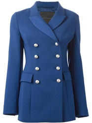Ermanno Scervino Double Breasted Blazer Blue