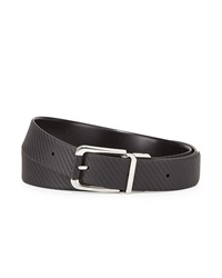 Reversible Chassis Leather Belt Black Black Dunhill