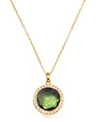 Ippolita Rock Candy 18K Gold Mini Lollipop Necklace In Peridot And Diamond