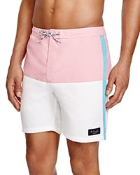 Barney Cools B.Cools Color Block Swim Trunks Pink White Blue