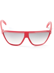 Gianni Versace Vintage Flat Top Sunglasses Red