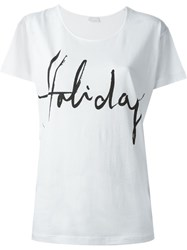 Lala Berlin Holiday Print T Shirt White
